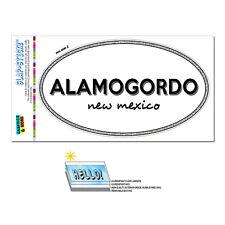 Euro Oval Window Bumper Laminated Sticker New Mexico NM City State Ala - Zun