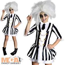 Beetlejuice Niñas Vestido de fantasía de Halloween Niños Childrens Traje de Disfraz de Tim Burton