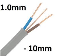 1.0 mm 1.5 mm 2.5 mm 4.0 mm 6 mm 10 mm GRIS Twin & Earth câble 6242Y par mètre
