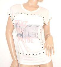 MAGLIETTA BIANCA donna t-shirt maglietta manica corta sottogiacca viscosa 55X