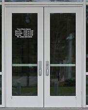 """Custom Business Name Store Hours Sign Vinyl Decal Sticker 14"""" x 9"""" Window Door"""