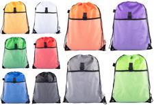 Mato & Hash Drawstring Cinch Bag Backpack With Mesh Pocket BULK