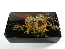 A PAPER MACHE BOX LACQUER BOX POSTAL STAMP DISPENSER BOX Asia China ca1900s Rare