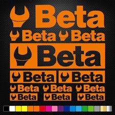 BETA 12 Stickers Autocollants Adhésifs Auto Moto Voiture Sponsor Marques