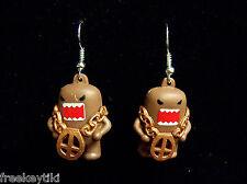 Domo Kun w/ Bling Bling Ghetto Necklace Mini Figures Figurines Dangle Earrings