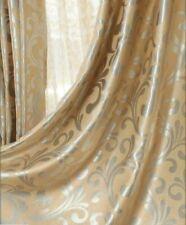 Pinch Pleat Curtains Window Curtain European Style Room DARKENING Drape Gold