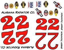 #22 SPEEDY THOMPSON ALABAMA Radiator Co. 1959 Chevrolet 1/64th HO Decals
