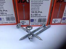 Tellerkopfschrauben Konstruktionsschrauben 6mm hell verz.CE-Kennz. für Holzbau