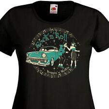 T-Shirt FEMME - ROCK'N'ROLL  Boppin'n'Shakin' - Teddy Boy Pin-Up Rockabilly 60's