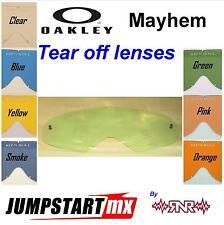 OAKLEY MAYHEM Goggles Tear Off Lens Clear Blue Yellow Smoke Green Pink Orange