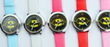 Reloj de Pulsera niños Chicos Chicas Batman Reloj de Pulsera Analógico Correa de Cuero Delgada Bat Man