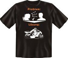 Biker T-Shirt - Problem Lösung Bike Motorrad Geburtstag Fun Shirt geil bedruckt