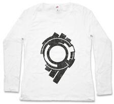 SECTION 9 LOGO DAMEN LANGARM T-SHIRT Logo Sign Ghost in the Hanka Shell Firma