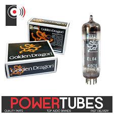 GOLDEN DRAGON EL84 Amplifier POWER Tubes (SINGLE Valve, Matched PAIR & QUAD)