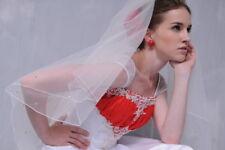 HBH 2 Schicht Brautschleier aus Tüll,m. Strasssteinchen bestickt,Länge:70cm/90cm
