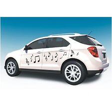 Aufkleber 14 teiliges Set  Noten Note Musik Folie Deko Autoaufkleber Sticker