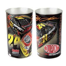 """JEFF GORDON #24 DUPONT RACING NASCAR METAL WASTEBASKET 15"""" CHEVROLET SS"""