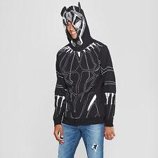 Black Panther Zip-Up Mask Hooded Sweatshirt Hoodie~Halloween/Cosplay Costume