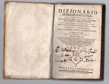 dizionario storico portatile ladvocat 1777 tomo VI