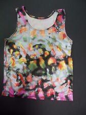 NWT Silver spraypaint print Tank top Boys /Men spandex Dance Costume Muscle tank