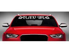 "40"" Island Girl Cute Hawaiian Car Decal Sticker Windshield Banner Hibiscus COLOR"