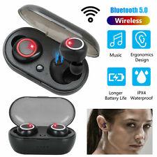 Auriculares Inalambricos Bluetooth para iPhone Android Samsung Cable Carga Usb