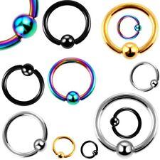Bcr Piercing Stainless Steel Captive Hoop Ball Ring Tragus Nose Nipple Septum