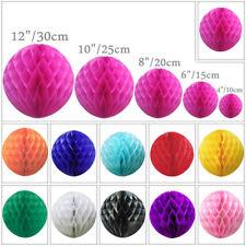 1 5 10 Paper Honeycomb Balls Lantern Pompoms Table Garland Wedding Multicolour
