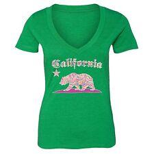 California Paisley T-shirt Vintage Cali State Pink Bear Flag West Side Tshirt