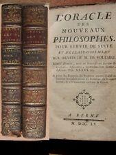 L'oracle des nouveaux philosophes et Suite 2 vol 1760