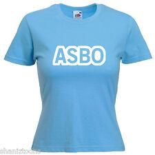 Asbo Chav Ladies Lady Fit T Shirt Size 6 -16