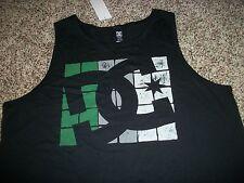 ab9be8c74d336 DC SHOES New NWT Mens Tank Top Shirt Sleeveless Black Green MEDIUM LARGE