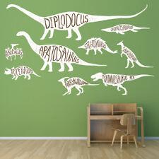 Genannte Dinosaurier Diplodocus T-Rex Wandtattoo Set Ws-47381