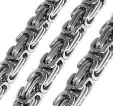 Set Massive Königskette 9 mm dick / 50 55 oder 60 cm u. Armband Edelstahl Silber