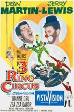 3 Ring Circus - Martin & Lewis - 1954 - Movie Poster