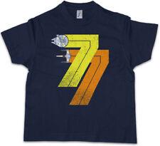 VINTAGE REBEL BORN 77 Kids Boys T-Shirt Star Millenium Dart Year 1977 Alliance
