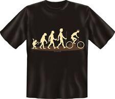 bedrucktes Fahrrad T-Shirt Shirts - Evolution Radler - Geburtstag Geschenk Rad