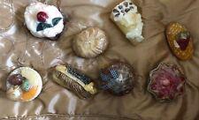 Novelty Bakery Pastry Shaped Candles CHOICE Cream Puff Cake Pie Tart Eclair Bun