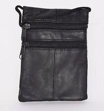 Genuin Leather Shoulder Mini Small Neck Purse Cross Body Tote Travel Satchel Bag