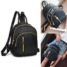 Women Black Rucksack Nylon Backpack Daypack Travel Casual Student School Bags