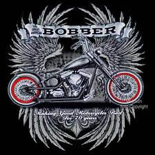 * Custom Biker Motorrad Chopper Harley-Shovelhead-Motiv Bobber T-Shirt *4219