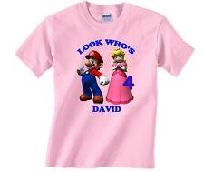 Item 3 Super Mario Princess Peach Personalized Custom Birthday Shirt In 8 Different