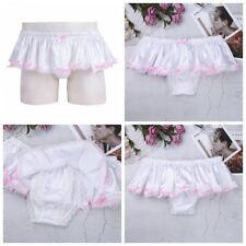 Men's Lingerie Satin Sissy Pouch Bikini Boxer Briefs Thong Underwear Panties