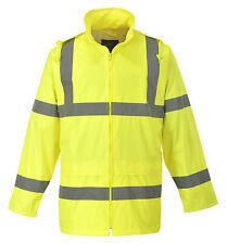 HI VIS Jacket Rain Work Coat  Waterproof High Visibility yellow or orange  H440