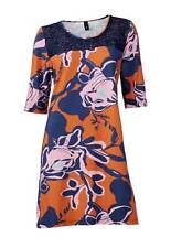 Kleid m. Spitze, orange-blau von H**** - Best Connections