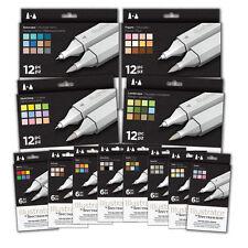 Spectrum Noir ILLUSTRATOR Twin Nib Pen Sets 6 & 12 Packs By Crafters Companion