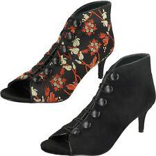 Ladies Anne Michelle Mid Heel Button & Hook Boot Sandals