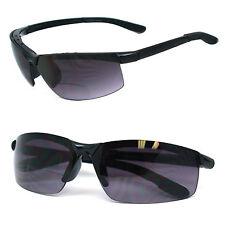 Bifocal Vision Reading Glasses Sunglasses Sun Reader Rimless Black Arms RE22