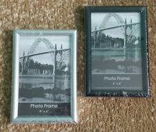 4×6 photo frame wall plastic/clear glass Metallic/Chrome or Black NEW