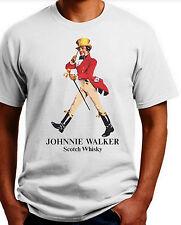 Johnny Walker Scotch T-shirt.Gray,Khaki,White,Yellow. S-XXXL Free Ship to USA